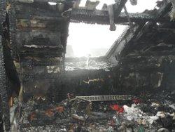 Hausratversicherung verbranntes Wohnzimmer