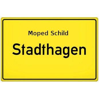Moped Schild Stadthagen
