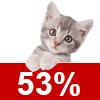 Katzenschutzfaktor 53%