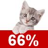 Katzenschutzfaktor 66%