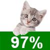 Katzenschutzfaktor 97%